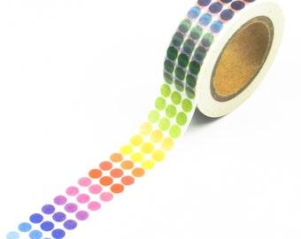1 Roll Polka Dot Washi Tape 15mm x 10meters For Gift Wrap//DIY//Craft//Stationary//Scrapbooking//Card Making//Collage