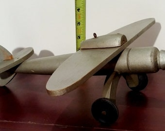 Vintage wood toy airplane