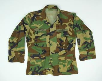 Vintage Camo Army Jacket Men's Medium - U.S. Army Jacket Medium Regular - Camouflage Jacket Lightweight Men's Medium - Army Jacket M
