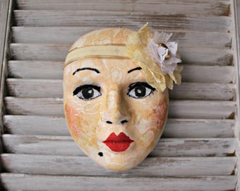 Handmade! Ceramic mask! Wall art.