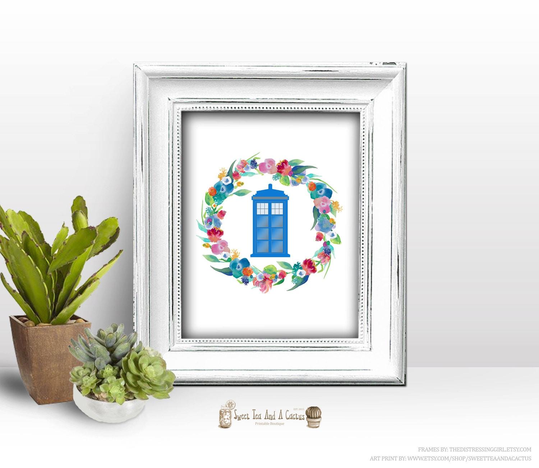 Doctor Who Tardis Wall Print Home Decor Art Printable Chic And