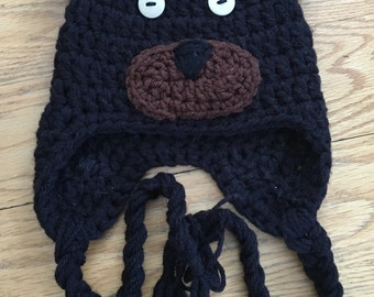 Newborn Crochet Bear Hat