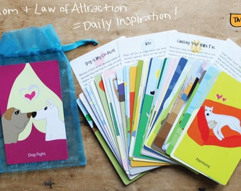 Paw of Attraction Cards - Oracle Cards that combine Dog-wisdom and Law of Attraction. Totally Unique!