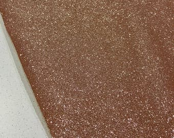 NEW Rose Gold Fine Glitter Fabric Sheet Thin 0.6mm A4 or A5 Sheet Fine Rose Gold Glitter Fabric A4 Sheets