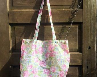 Vintage 1991 Floral Weightless Tote Bag by Avon
