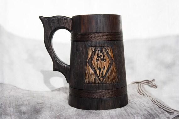Personalized Wooden Beer Mug 0 7 L 23oz Wood Beer Tankard