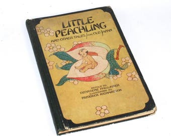 Little Peachling & Other Tales from Old Japan Illustrated Hardcover Book 1928
