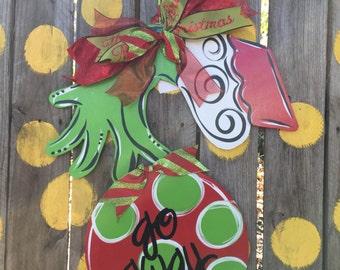 Christmas Grinch Door Hanger