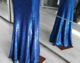 Bellydance sequin blue skirt