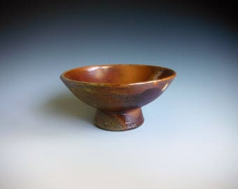 Sauce Bowl With a Drop of White Shino