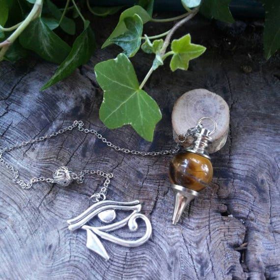 Crystal Pendulum - Tigers Eye Pendulum - Chakra Pendulum - Dowsing Pendulum