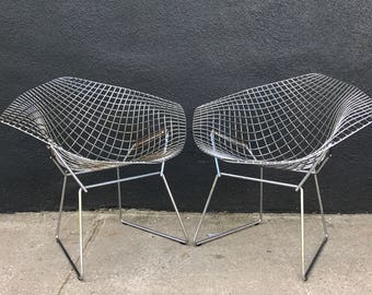 Harry Bertoia for Knoll diamond chairs -- 6 available