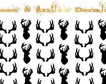 Deer & Antler Nail Decals