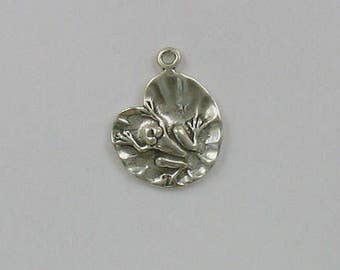 Sterling Silver Frog on a Lily Pad Charm