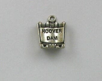 Sterling Silver 3-D Hoover Dam Charm