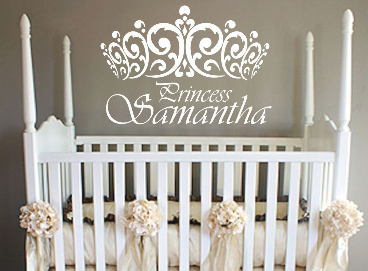 princess wall decal crown wall decal vinyl sticker decals. Black Bedroom Furniture Sets. Home Design Ideas