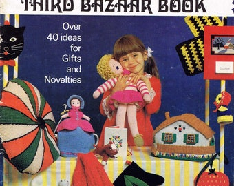 Patons 156 Third Bazaar Book - Over 40 Gifts Novelties - Vintage Retro Crochet Knitting Pattern