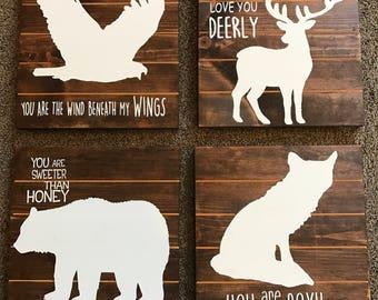 Wildlife Wood Signs