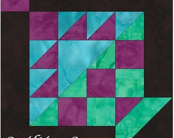 Checkerboard Basket 10 Inch Block Paper Piecing Foundation Quilting Block Pattern PDF