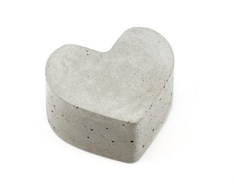Concrete Heart Paperweight