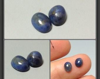 Sapphire cabochon 6x4.2mm