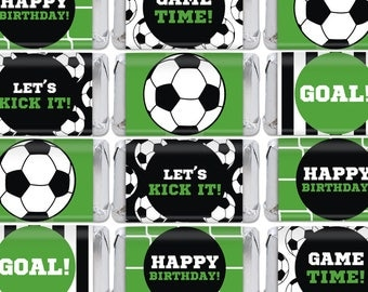 Soccer Mini Candy Bar Wrappers. Mini Chocolate Bar Wraps. Printable Party Favor Labels. Nugget Wrapps. Football Kids Birthday Favors