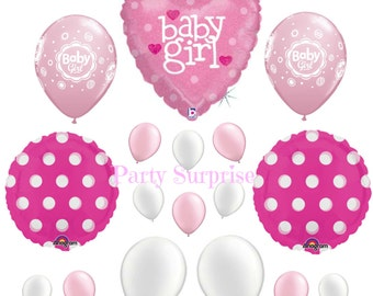 Baby Girl Balloon Package Girl Baby Shower New Baby Girl Gift Balloons Room Decoration Pink and White Balloons