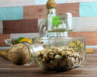 Upcycled Patron Tequila Bowl - Planter
