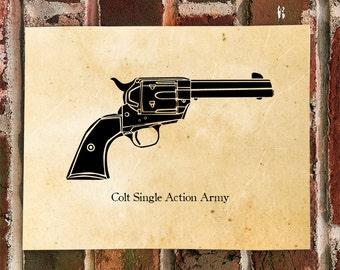 KillerBeeMoto: Limited Print Colt Single Action Army Pistol Print
