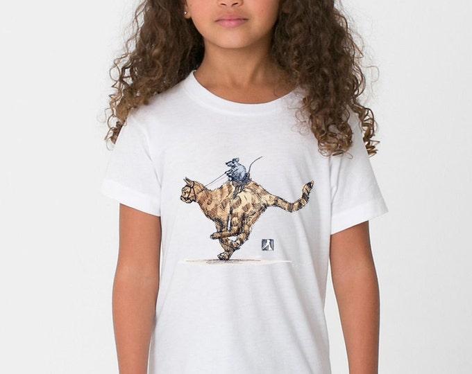 KillerBeeMoto: The Rat On The Cat T-Shirt/Tank Print (WHITE)
