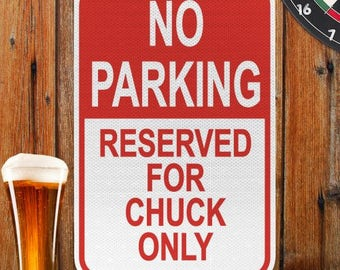 Personalized Parking Sign, Man's Wall sign