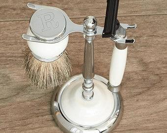 Personalized Shaving Set, Engraved Shaving tools