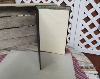 "Vintage Spel-Binder Spel Binder Portfolio Legal Notebook Binder Virgin Vinyl VPD Black Professional Binder 14 1/2"" x 9"""