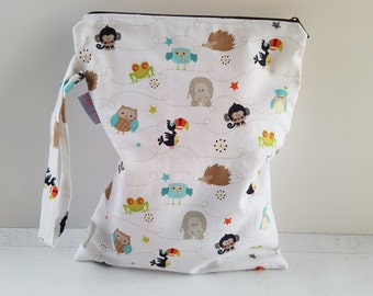Cloth Diaper Wet Bag | Gift for New Mom | Waterproof Bag | Cloth Diaper Keeper | Swimsuit Bag |  Wet Bag for Cloth Diaper | Nappy Wet Bag