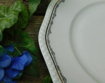 Set of 6 Antique Rosenthal Porcelain Dinner Plates - Bavaria