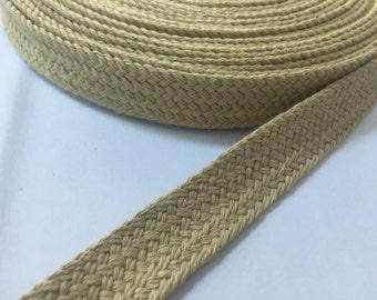 0.8 in - 2 cm wide hemp webbing