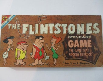 The Flintsones Stoneage Game, Boardgame, Transogram Toys and Games, 1961, Hanna Barbera