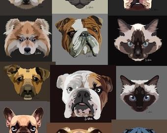 Pet portraits of your pets