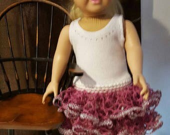 "Hand Crochet Dress for 18"" Doll Clothes like American Girl"