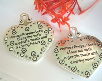 Nurse Pendant,Healthcare Pendant,Medical Pendant,Nurse Prayer Pendant,RN,LVN,Nurses Prayer
