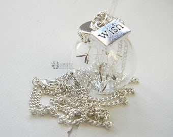 Wish, Dandelion, dandelion seeds glass ball, MAKE A WISH & take it always with you