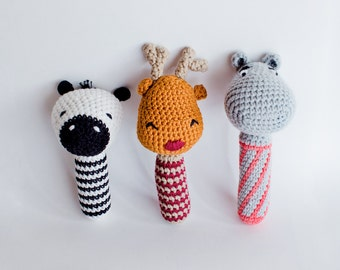 Wild life crocheted rattle