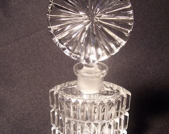 Vintage Crystal Fine Cut Perfume Fragrance Bottle