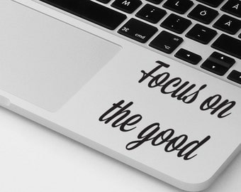 Macbook air pro sticker decal motivational quote laptop cover MacBook palm rest sticker decal laptop sticker notebook decal sticker