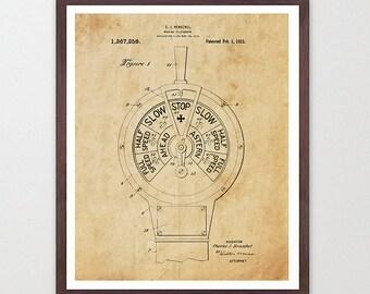 Ship Telegraph Patent - Boating Art - Boat Art - Boat Poster - Maritime Poster - Nautical Poster - Ship Propeller - Propeller Art - Ship Art