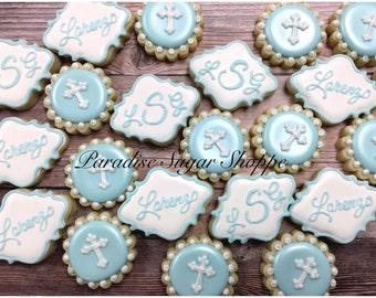 Baptism Communion Decorated MINI Cookies - 3 Dozen mini