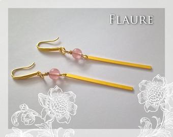"Earrings gold metal ""design"""