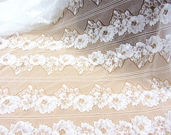 cotton lace fabric,cotton skirt lace fabric-off white sell by yard,skirt lace fabric