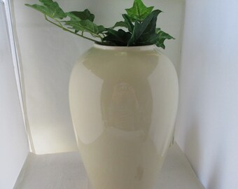HUGE Haeger Pottery High Gloss Pale Yellow Vase Tall Vase Big Vase Huge  Haeger Vase Haeger
