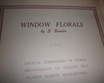 Litho by S Bender Floral Prints Litho Window Florals  1941